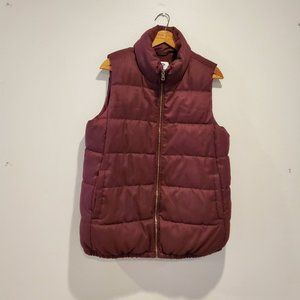 Old Navy Maternity Fleece-lined Puffer Vest, Sz M